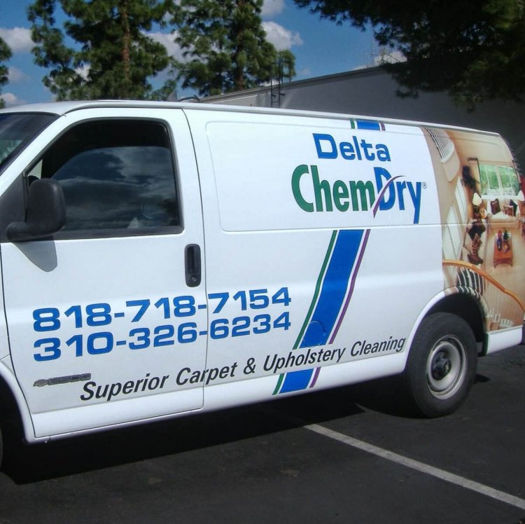 Delta Chem-Dry carpet cleaning van in santa monica