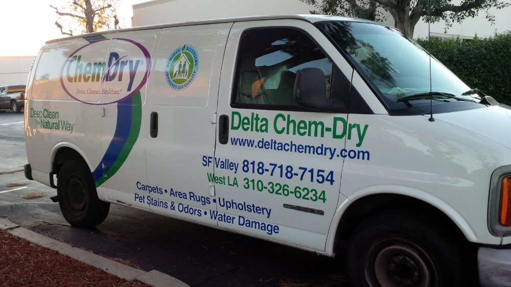 delta chem dry carpet cleaning van in santa monica