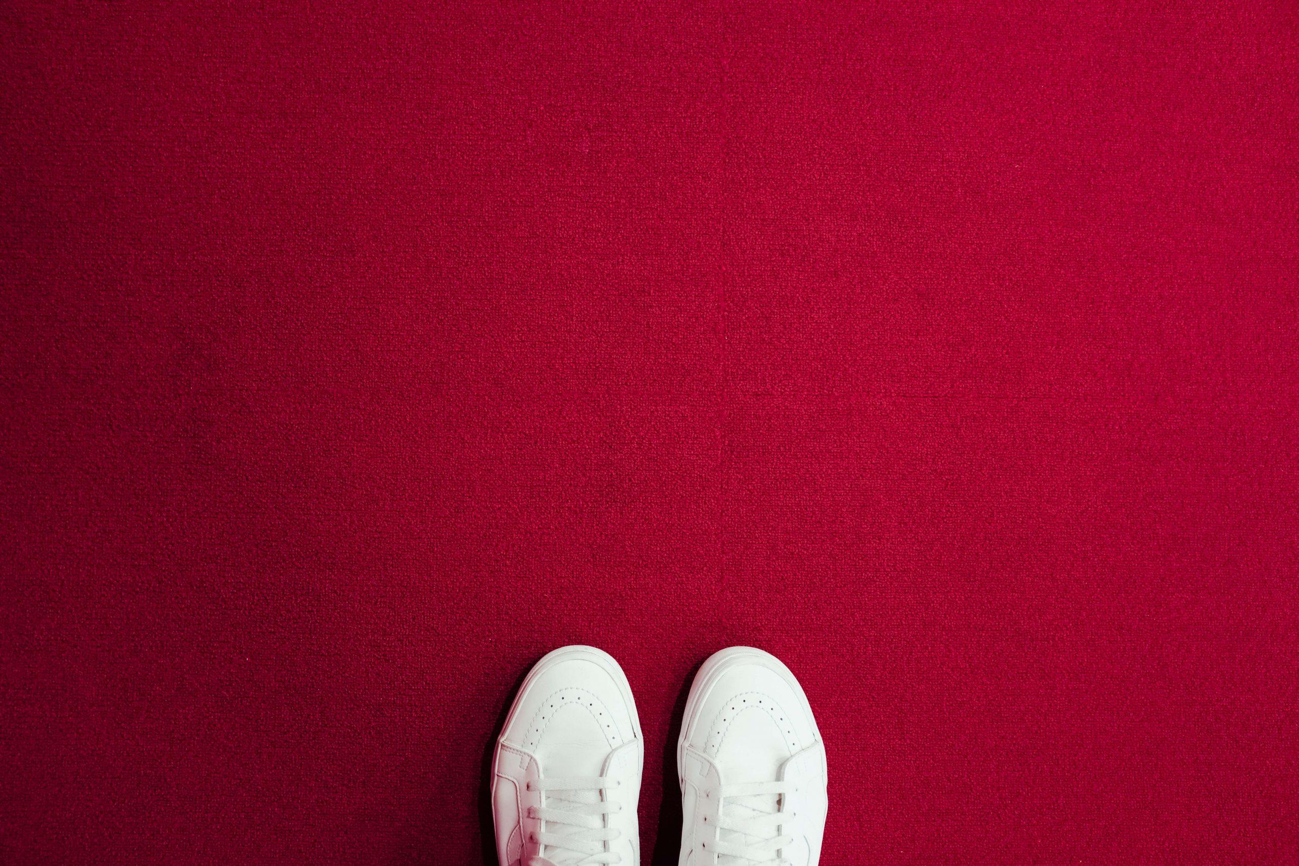 shoes on clean carpet