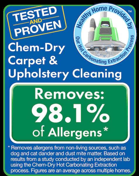 delta chem dry san fernando allergen and bacteria study graphic